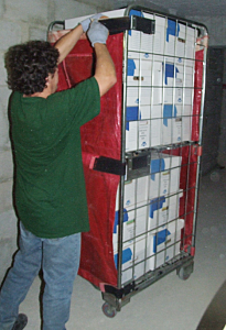 Enlèvement et transfert des archives