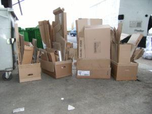 enlèvement cartons d'emballage en Sarthe