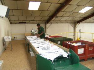 Recyclage papier en sarthe